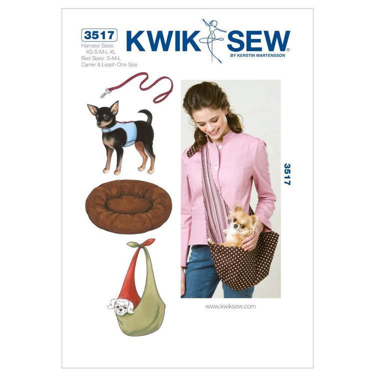Kwik Sew Pattern K3517 Harness Leash Bed & Carrier