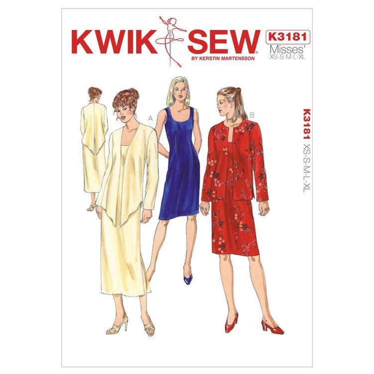 Kwik Sew K3181 Dress & Jackets  X Small - X Large