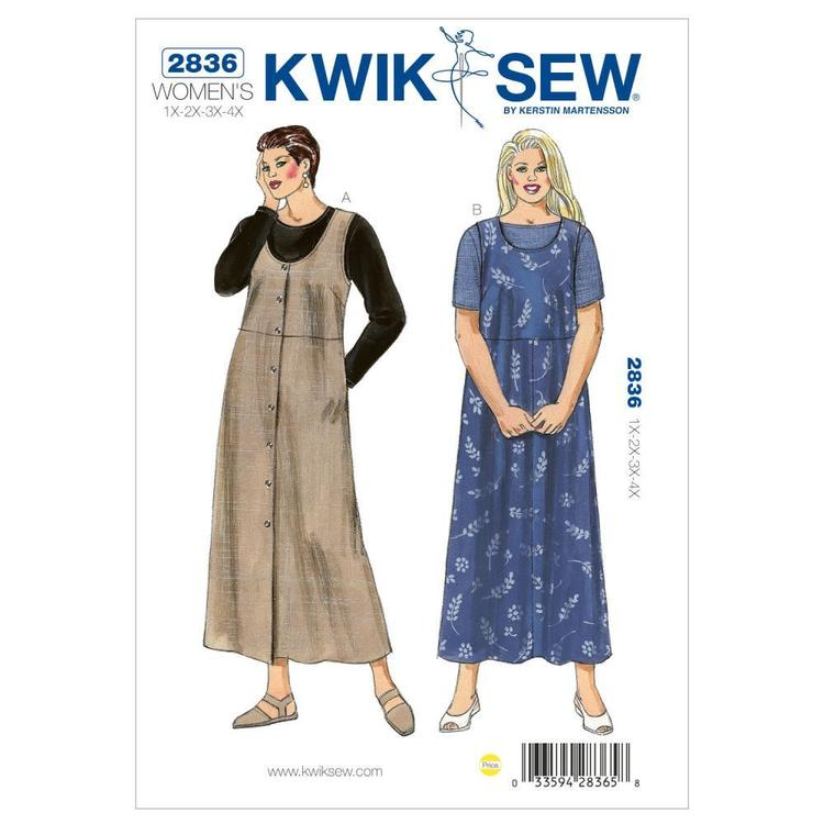 Kwik Sew Pattern K2836 Plus Size Dress & Shirts