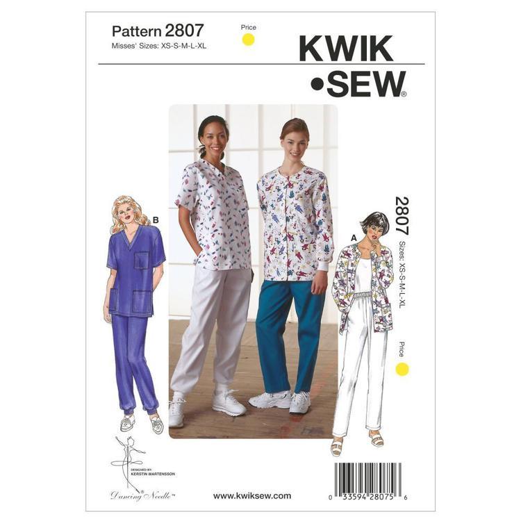 Kwik Sew Pattern K2807 Scrubs
