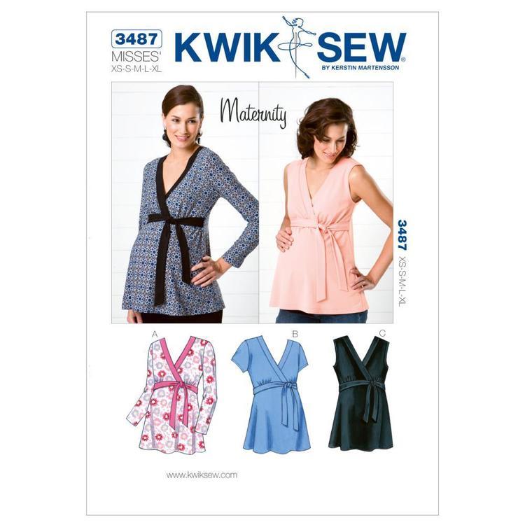 Kwik Sew Pattern K3487 Maternity Tops