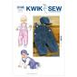 Kwik Sew K3145 Overalls & Hat  Small - X Large