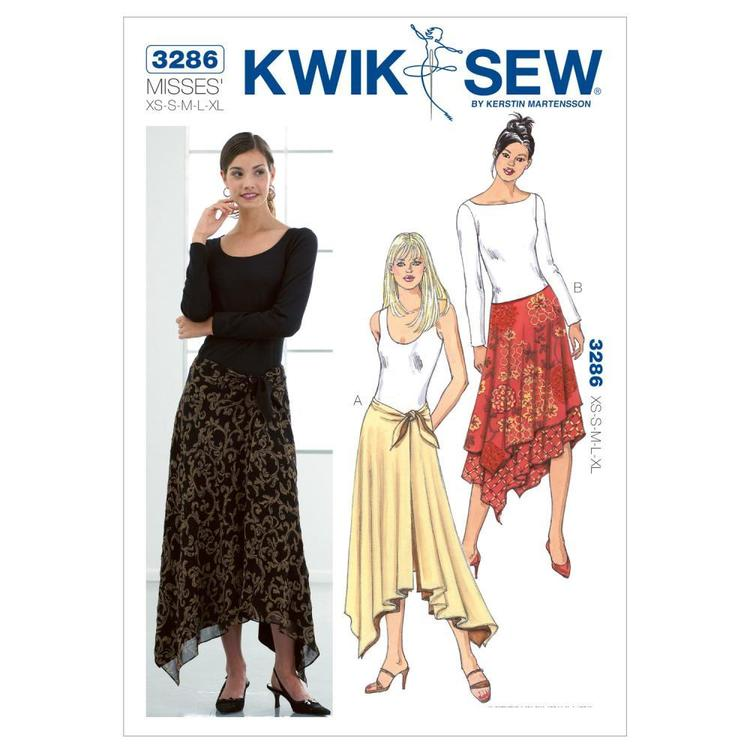 Kwik Sew K3286 Skirts  X Small - X Large