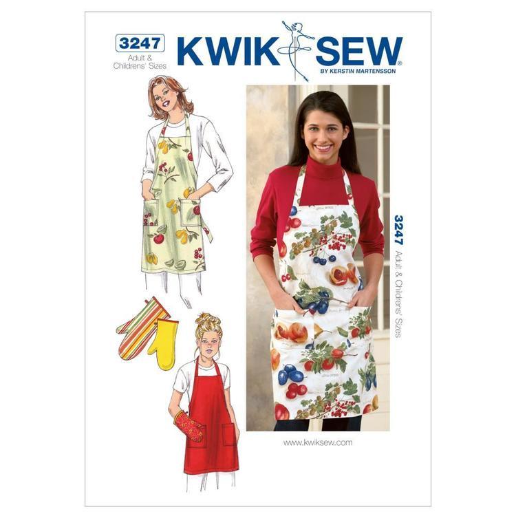 Kwik Sew Pattern K3247 Apron & Oven Mitt