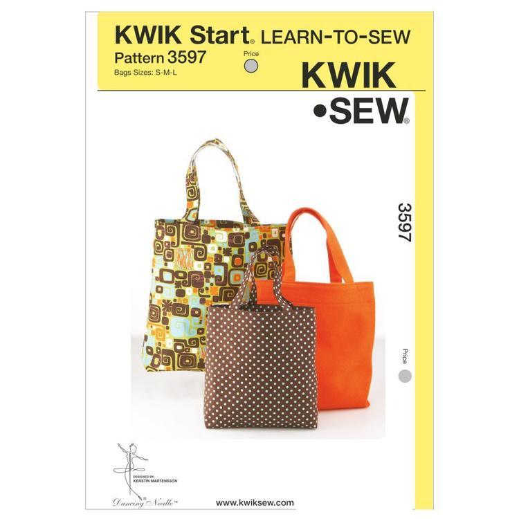 Kwik Sew Pattern K3597 Bags