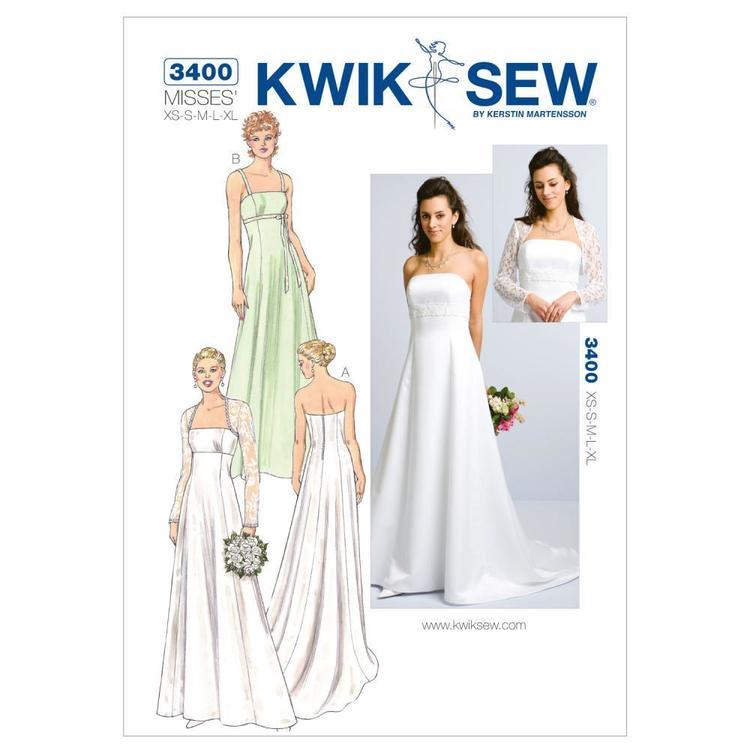 Kwik Sew Pattern K3400 Gowns & Bolero