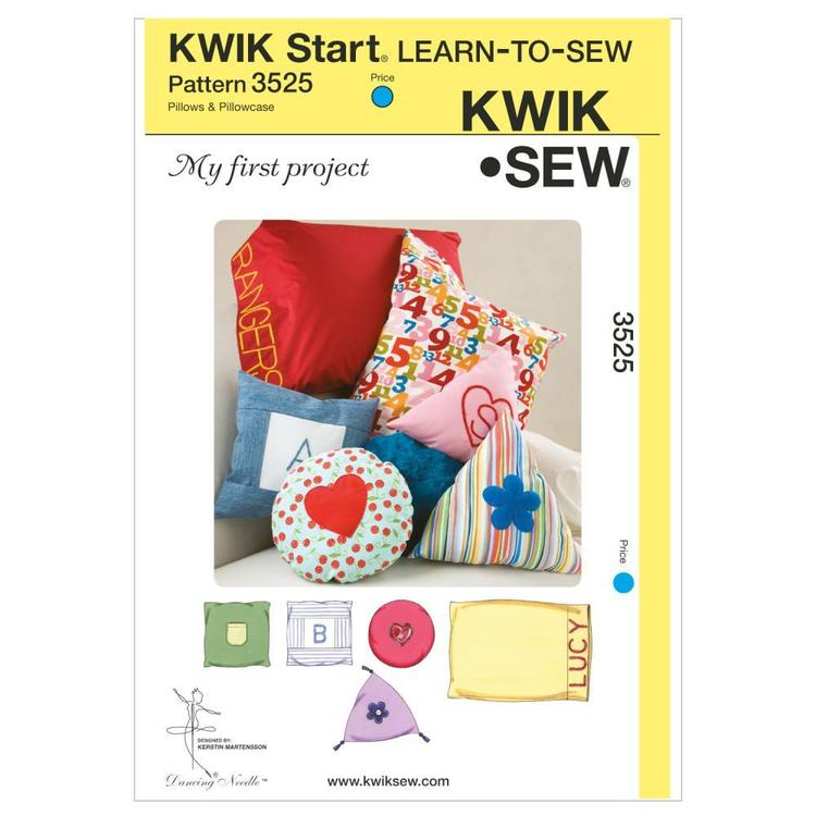 Kwik Sew Pattern K3525 My First Project Pillows & Pillowcase