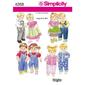 Simplicity 4268 Dolls Clothes  One Size