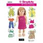 Simplicity 4654 Dolls Clothes  One Size