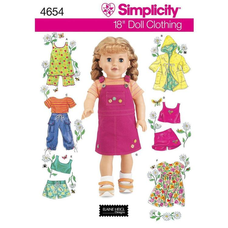 Simplicity Pattern 4654 Dolls Clothes