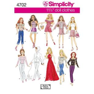 Simplicity Pattern 4702 Dolls Clothes