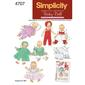 Simplicity 4707 Dolls Clothes  Small - Large