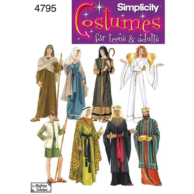 Simplicity 4795 Unisex Costumes  X Small - X Large