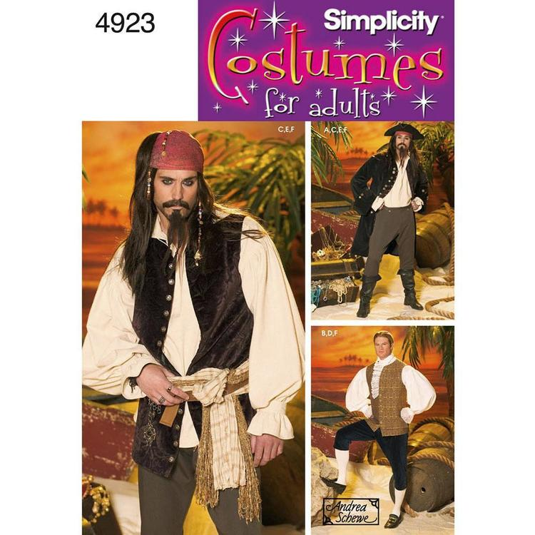 Simplicity Pattern 4923 Men's Costume