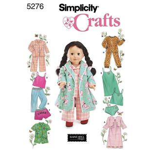 Simplicity Pattern 5276 Dolls Clothes