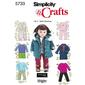 Simplicity 5733 Dolls Clothes  One Size