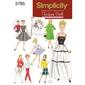 Simplicity Vintage 5785 Dolls Clothes  One Size