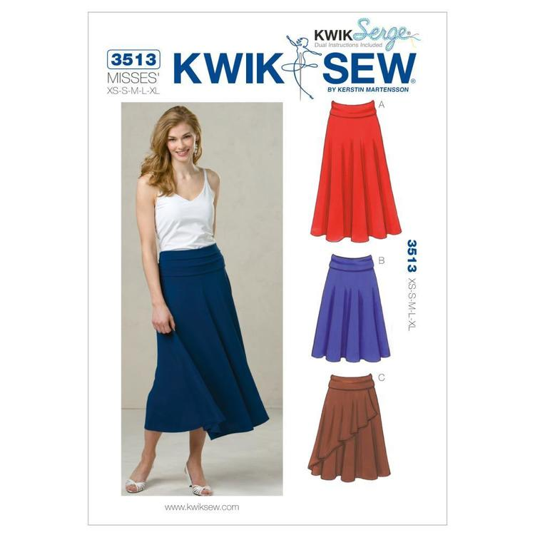 Kwik Sew Pattern K3513 Skirts