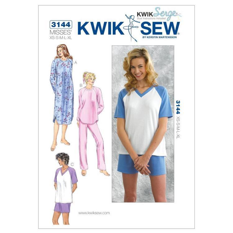 Kwik Sew Pattern K3144 Sleepwear
