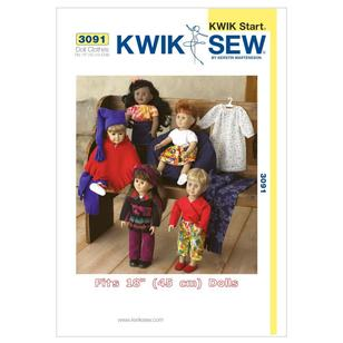 "Kwik Sew K3091 Outfits for 18"" Doll"