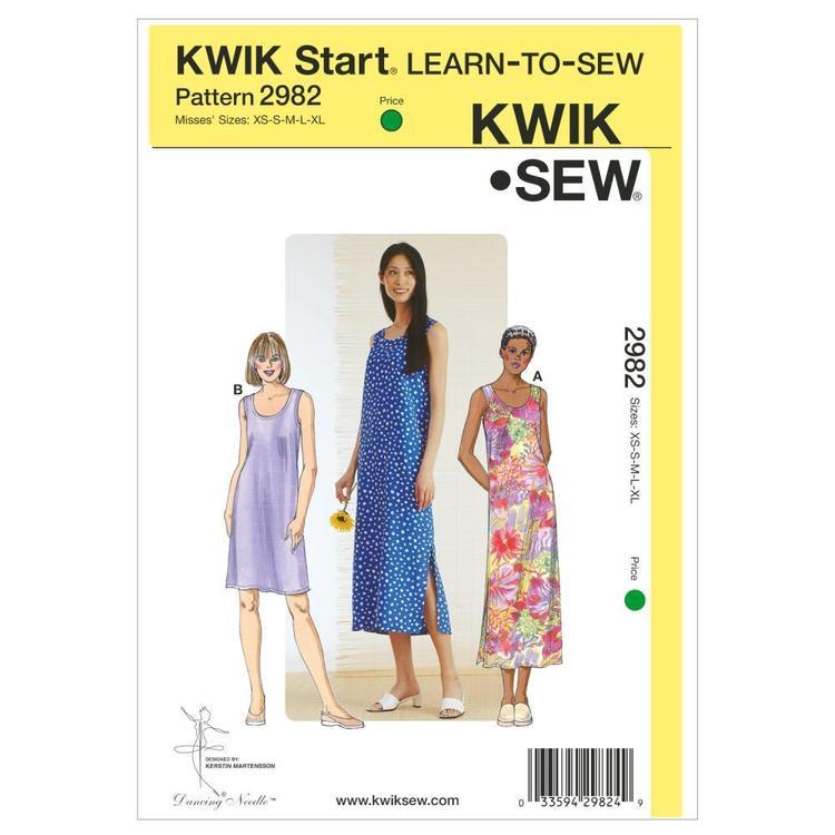 Kwik Sew Pattern K2982 Dresses