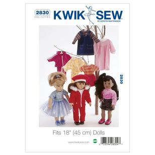 "Kwik Sew K2830 Outfits for 18"" Doll"