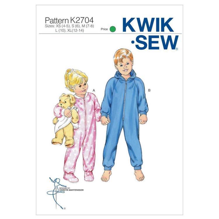 Kwik Sew Pattern K2704 Sleeper & Jumpsuit