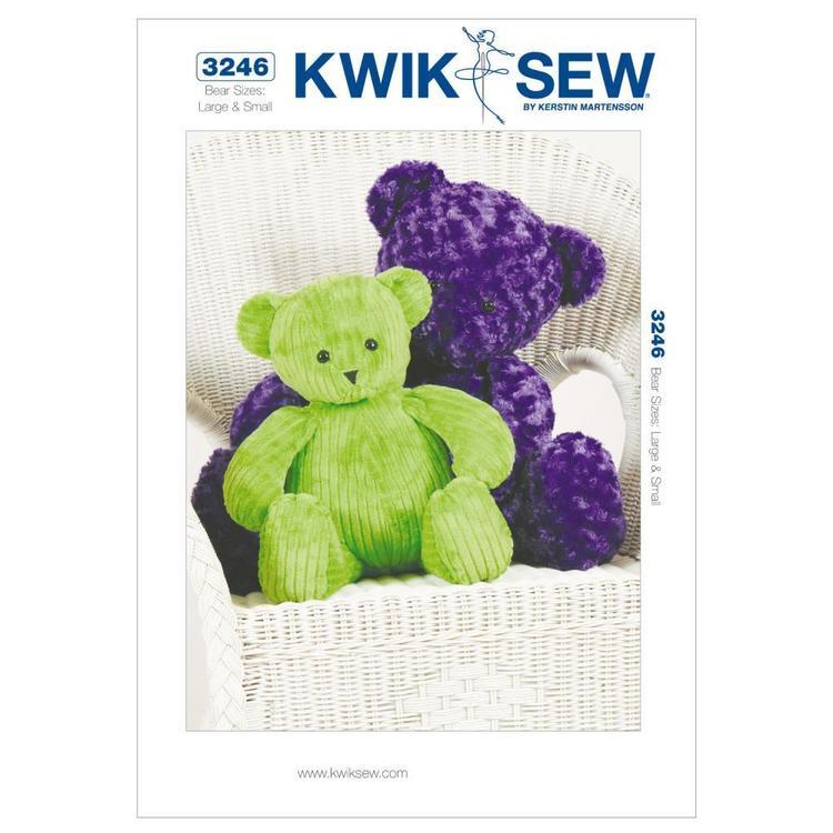 Kwik Sew Pattern K3246 Teddy Bears