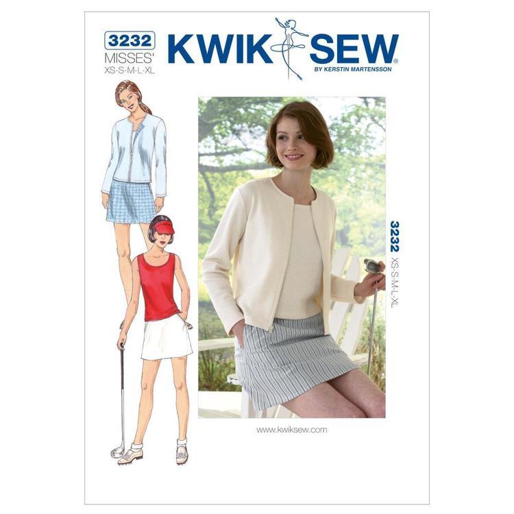 Kwik Sew Pattern K3232 Skort Top & Cardigan
