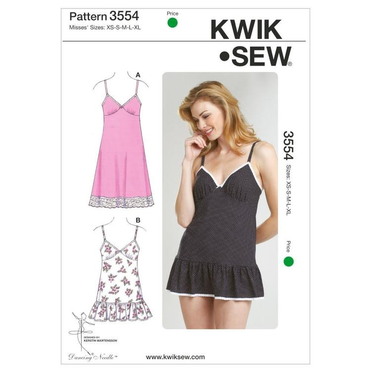 Kwik Sew K3554 Slips & Panties  X Small - X Large