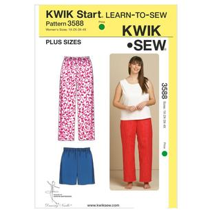 Kwik Sew Pattern K3588 Sleep Pants & Shorts