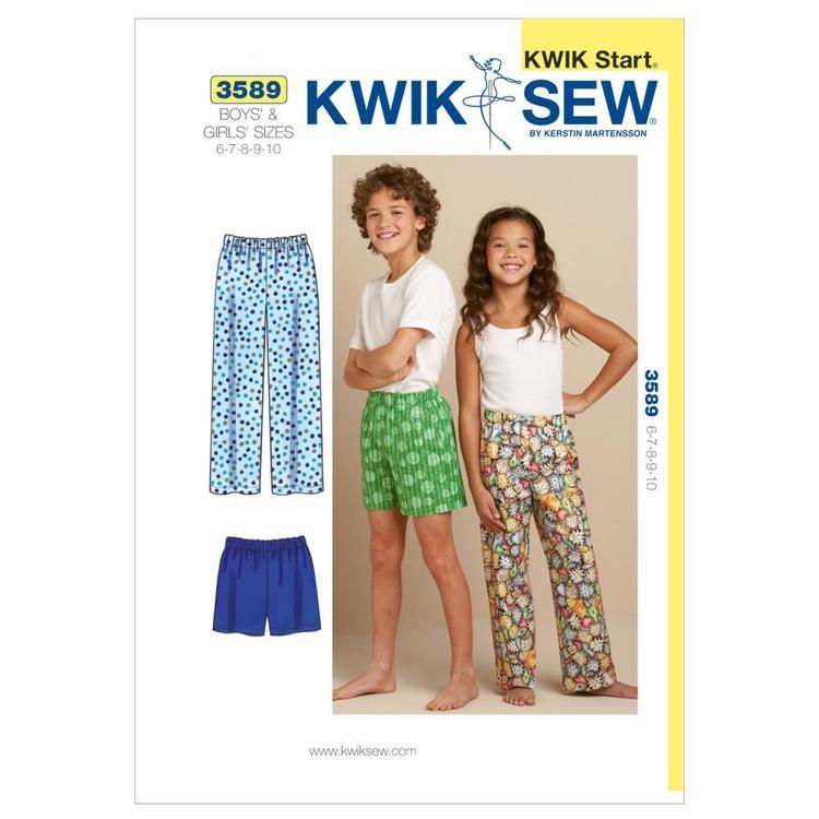 Kwik Sew Pattern K3589 Sleep Pants & Shorts