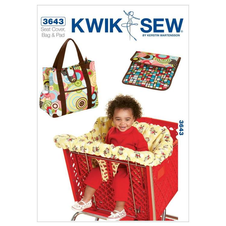 Kwik Sew Pattern K3643 Shopping Cart Seat Cover & Diaper Bag With Changing Pad