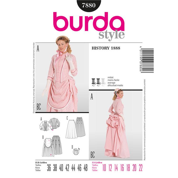 Burda Pattern 7880 Women's 1888 Dress Costume