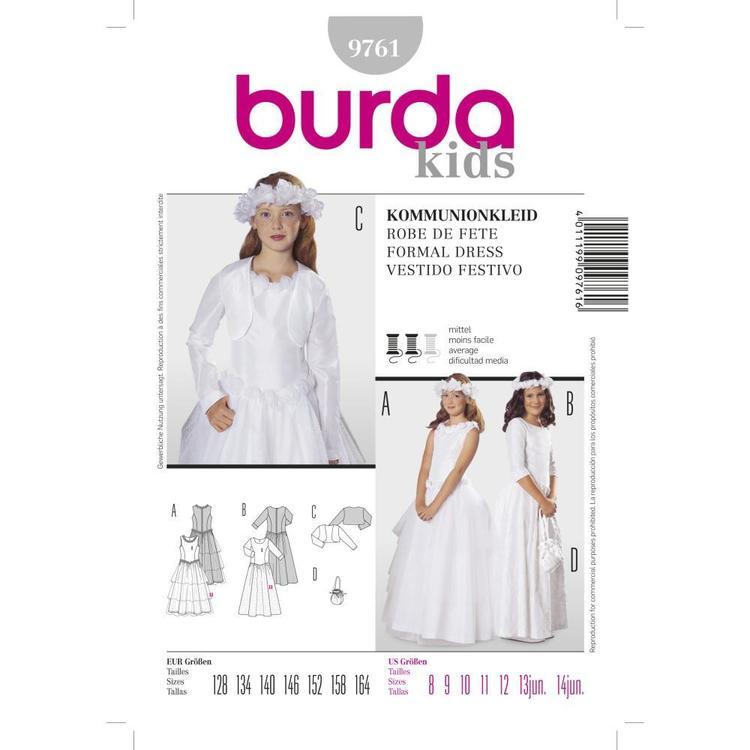 Burda Pattern 9761 Girl's Evening Wear