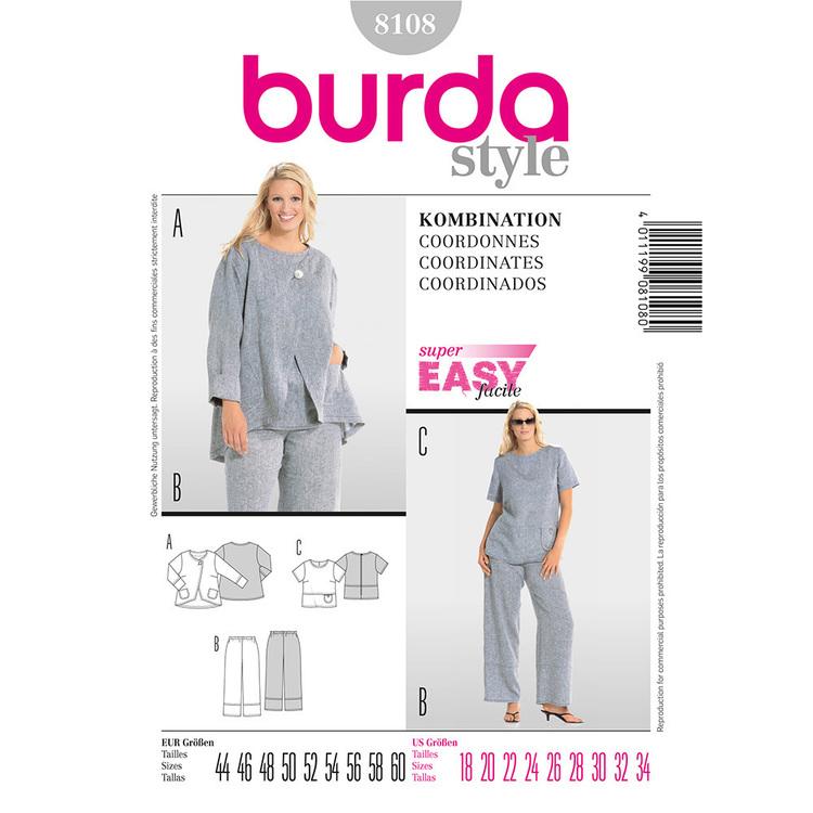 Burda Pattern 8108 Women's Coordinates