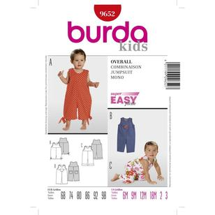 Burda Pattern 9652 Baby Jumpsuit
