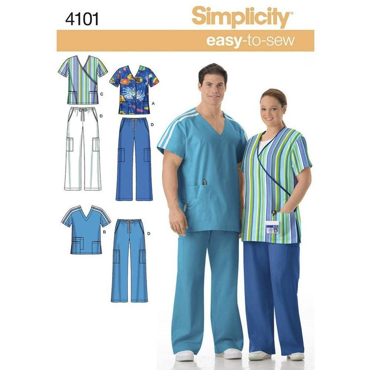 Simplicity Pattern 4101 Unisex Scrubs