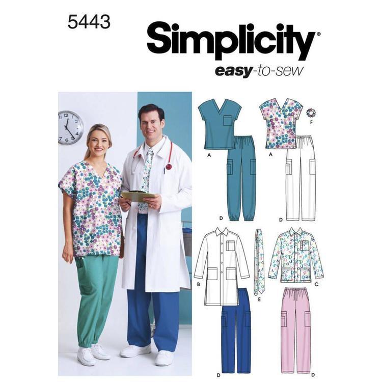 Simplicity Pattern 5443 Unisex Scrubs
