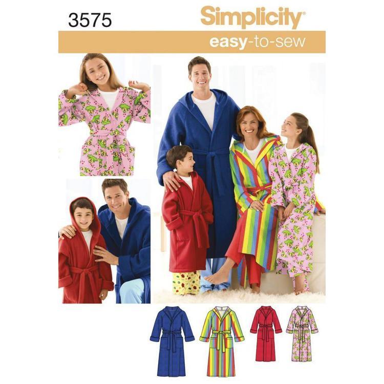 Simplicity Pattern 3575 Unisex Sleepwear