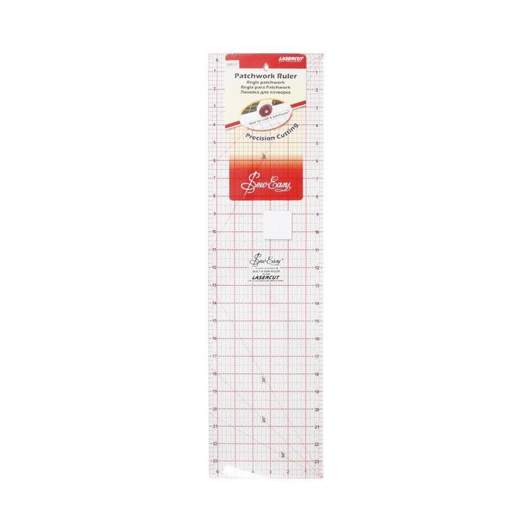 """Sew Easy 24 x 6.5"""" Imperial Patchwork Ruler"""