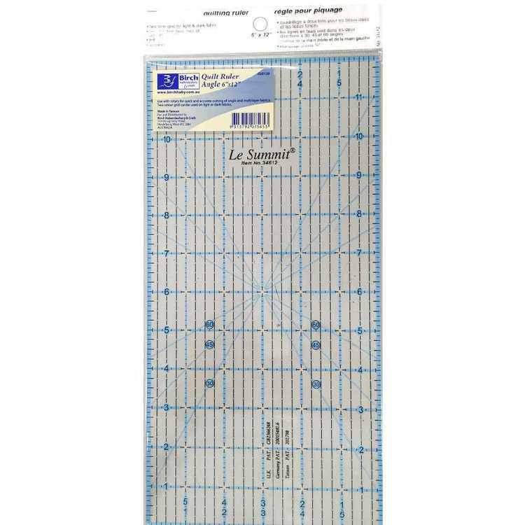 Birch Imperial Quilting Ruler