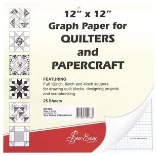 Sew Easy Imperial Quilting Graph Paper