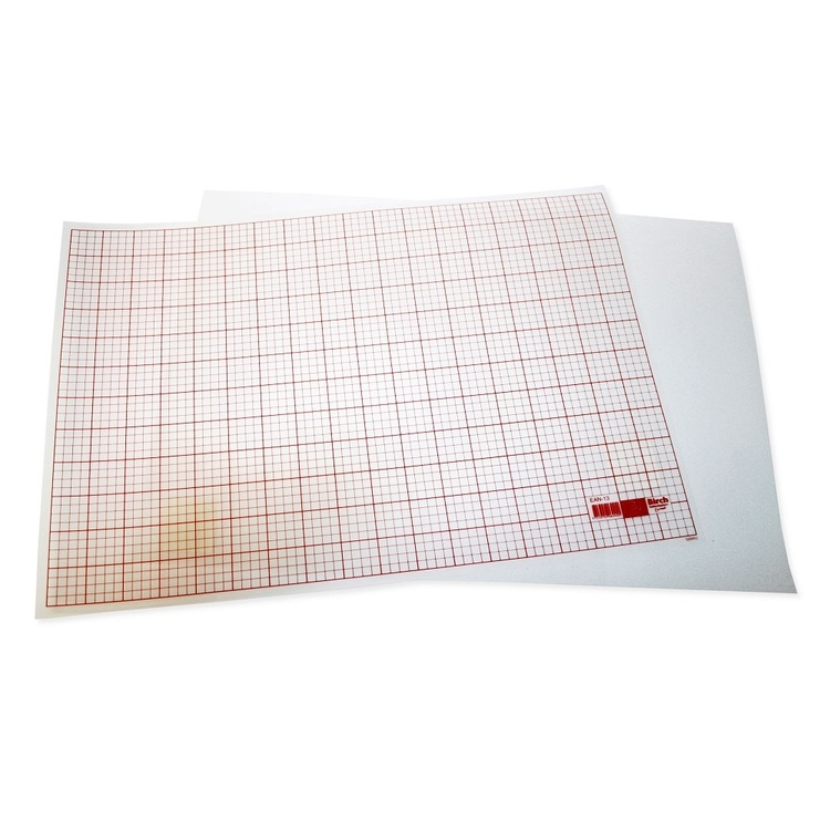 Birch Taint Plastic Sheeting White 32 x 47 cm