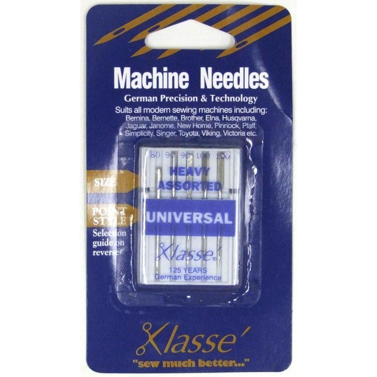 Klasse Universal Fine Sewing Machine Needles Silver