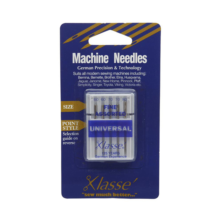 Klasse Universal Fine Sewing Machine Needles