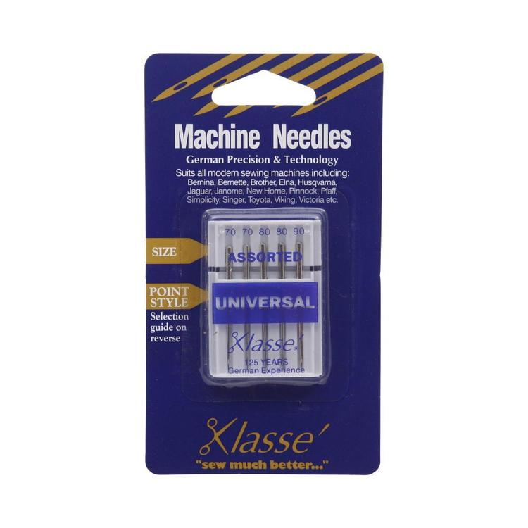 Klasse Universal Assorted Sewing Machine Needles