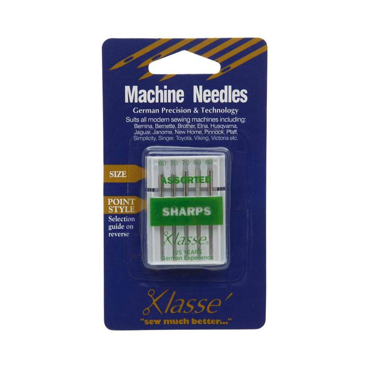 Klasse Sharps Assorted Sewing Machine Needles