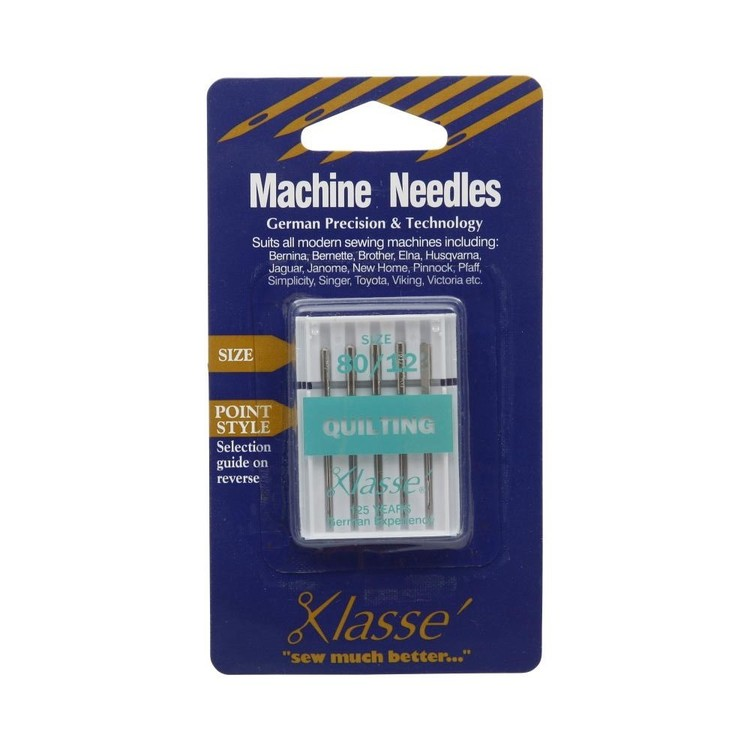 Klasse Quilting Sewing Machine Needles Silver