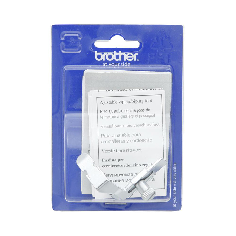 Brother F036 Zipper Piping Foot Silver